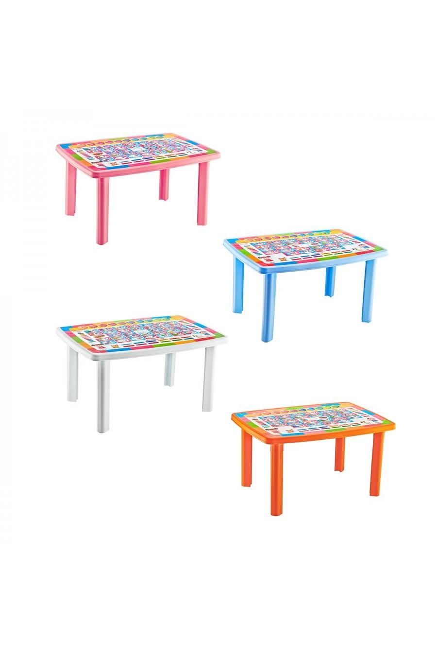 Baby Design Desenli Dikdörtgen Çocuk Masası | 70x100 cm