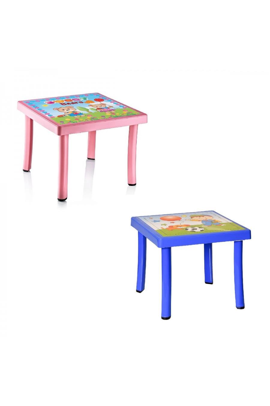 Baby Design Desenli Kare Çocuk Masası | 50x50 cm