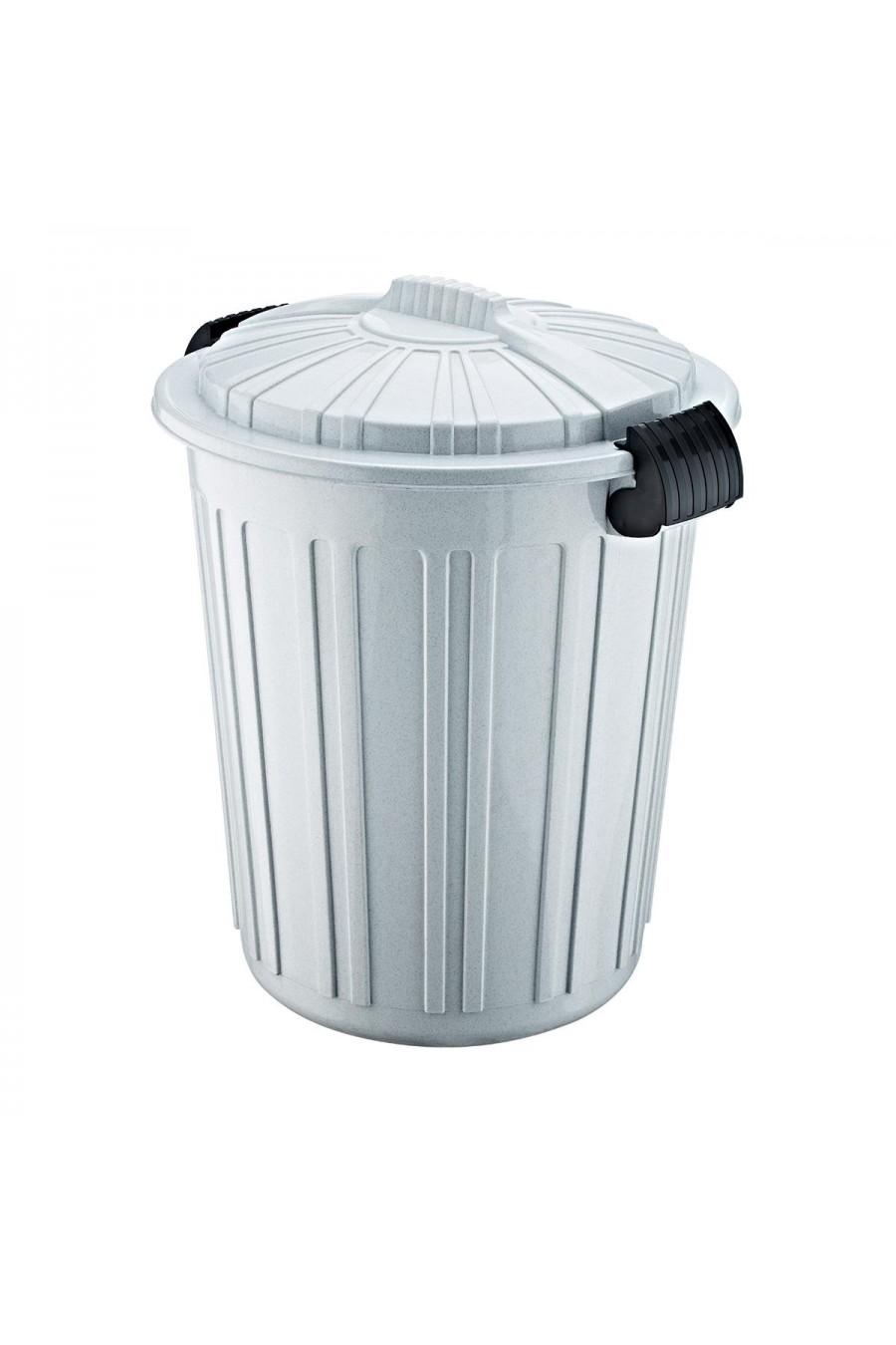 PlastArt Kapaklı Battal Çöp Kovası | 73 lt.