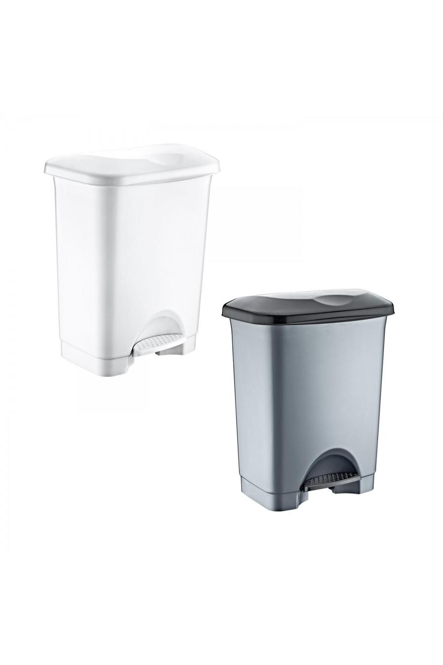 PlastArt 45 lt. Pedallı İç Kovalı Çöp Kovası