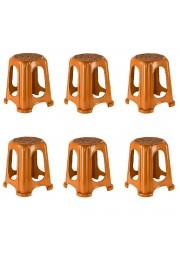 Holiday Kahverengi Hasır Tabure 6'lı Set