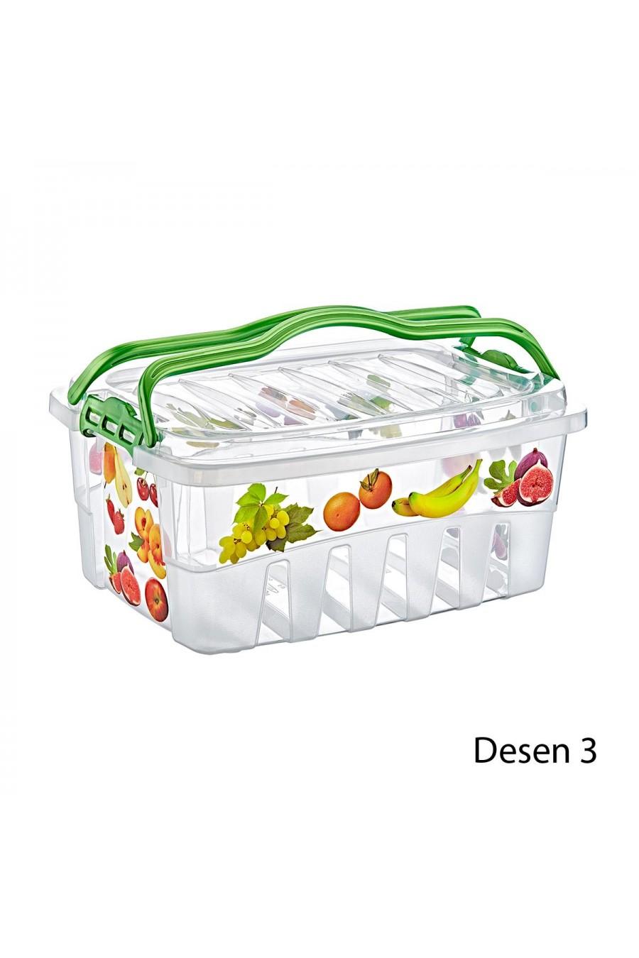 PlastArt 5 lt. Desenli Piknik Sepeti