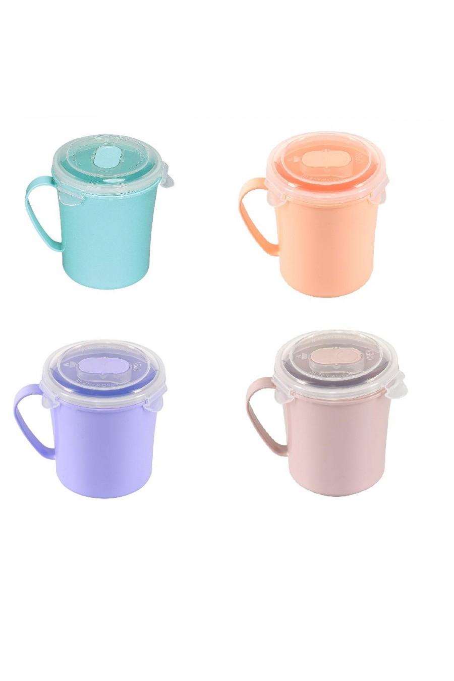 PlastArt Kilit Kapaklı Çorba Bardağı | Çorba Kupası