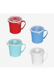PlastArt Kilit Kapaklı Çorba Bardağı   Çorba Kupası