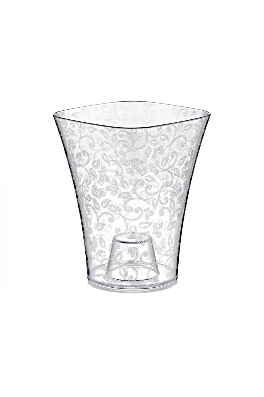 PlastArt 1.4 lt. Kristal Orkide Saksı | Şeffaf