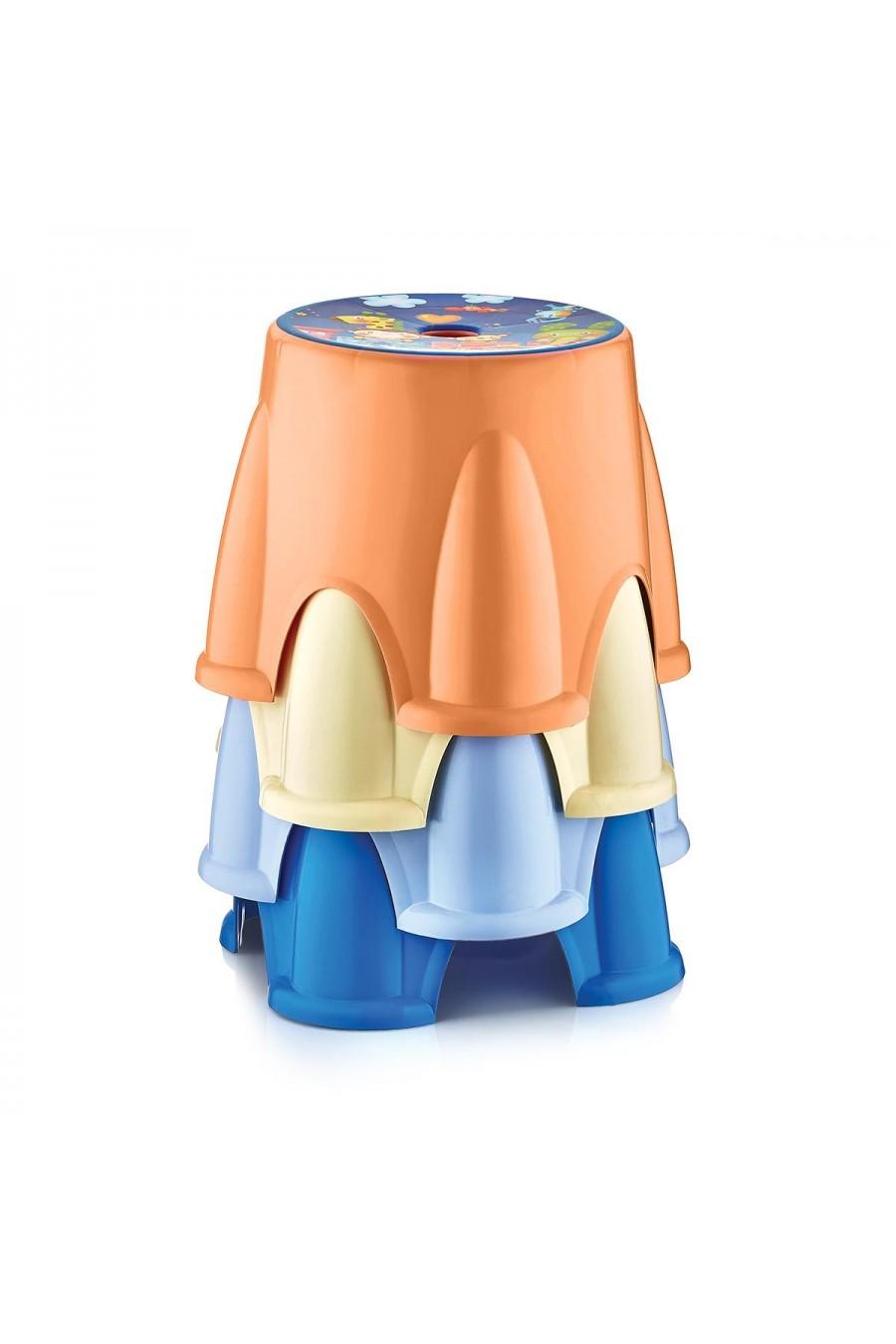 Baby Design Renkli Çocuk Taburesi